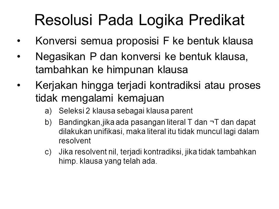 Resolusi Pada Logika Predikat