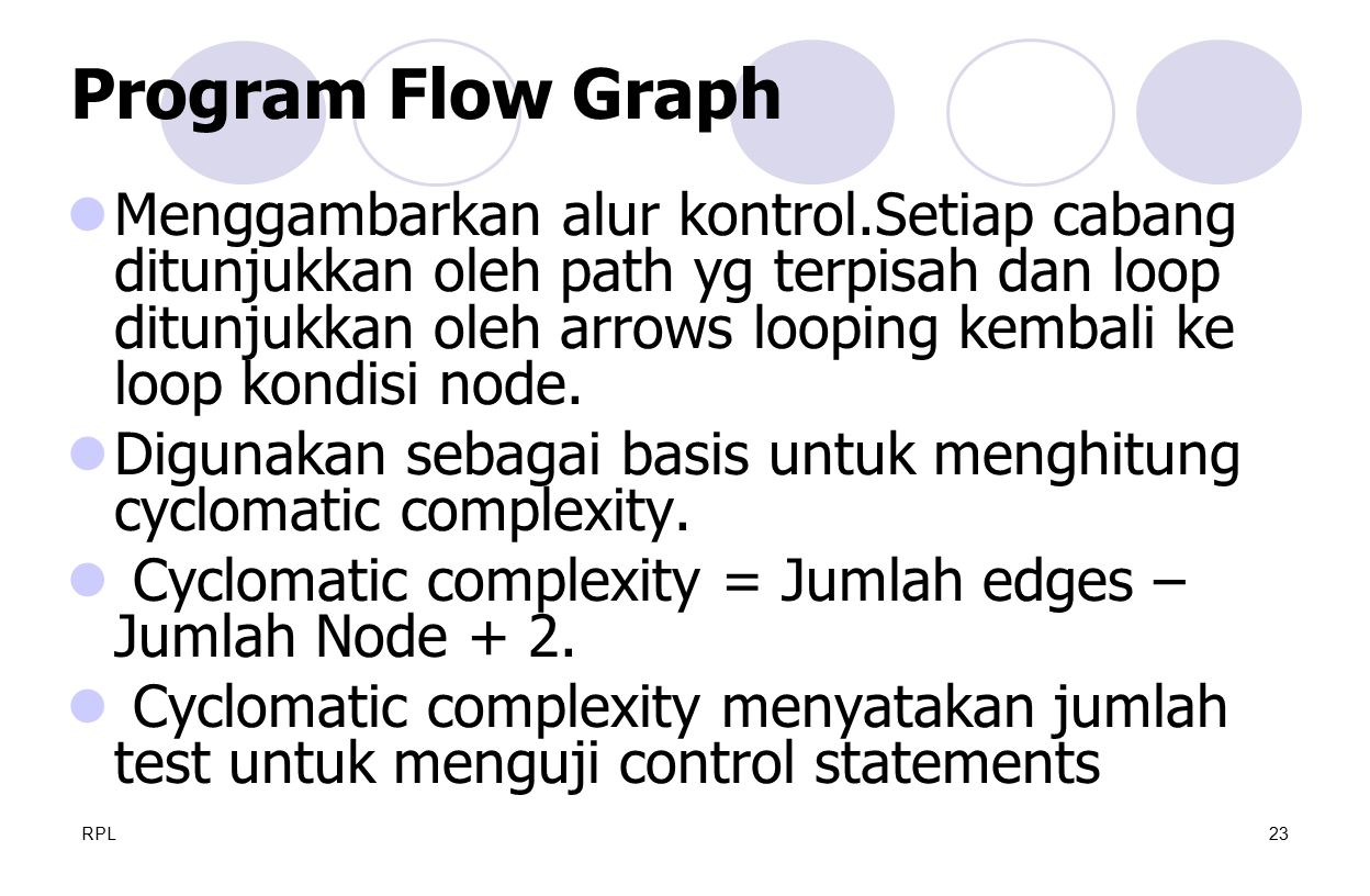 Program Flow Graph