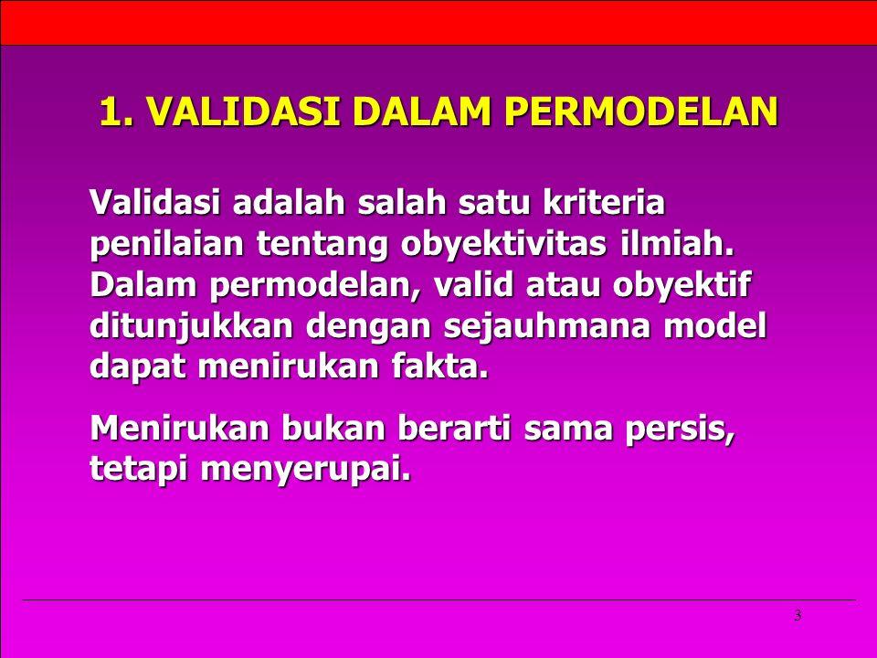 1. VALIDASI DALAM PERMODELAN