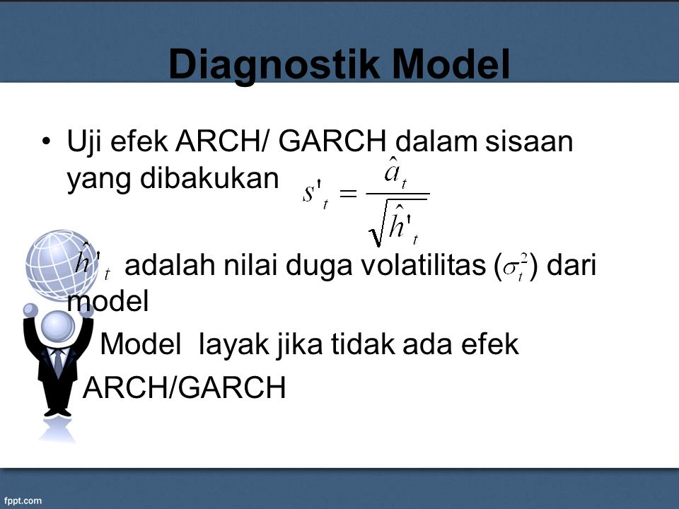 Diagnostik Model Uji efek ARCH/ GARCH dalam sisaan yang dibakukan