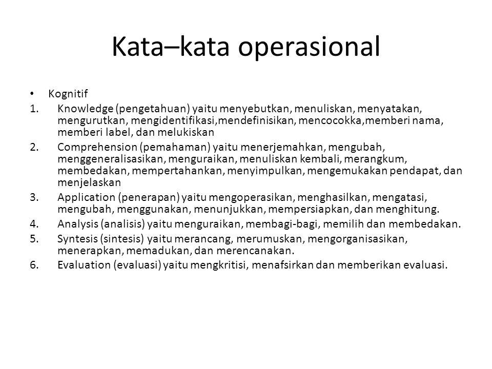 Kata–kata operasional