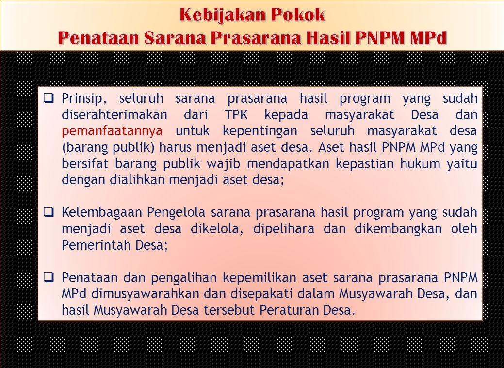 Penataan Sarana Prasarana Hasil PNPM MPd