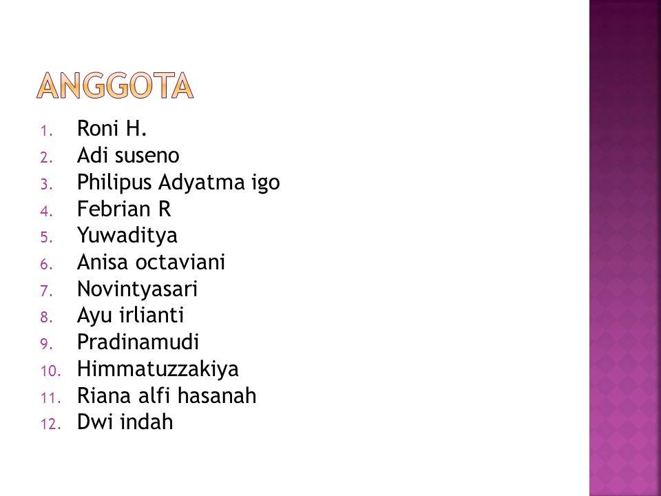 Anggota Roni H. Adi suseno Philipus Adyatma igo Febrian R Yuwaditya