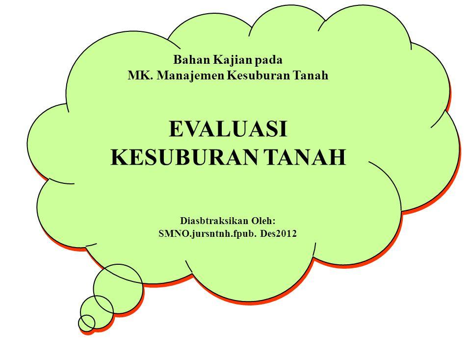 MK. Manajemen Kesuburan Tanah