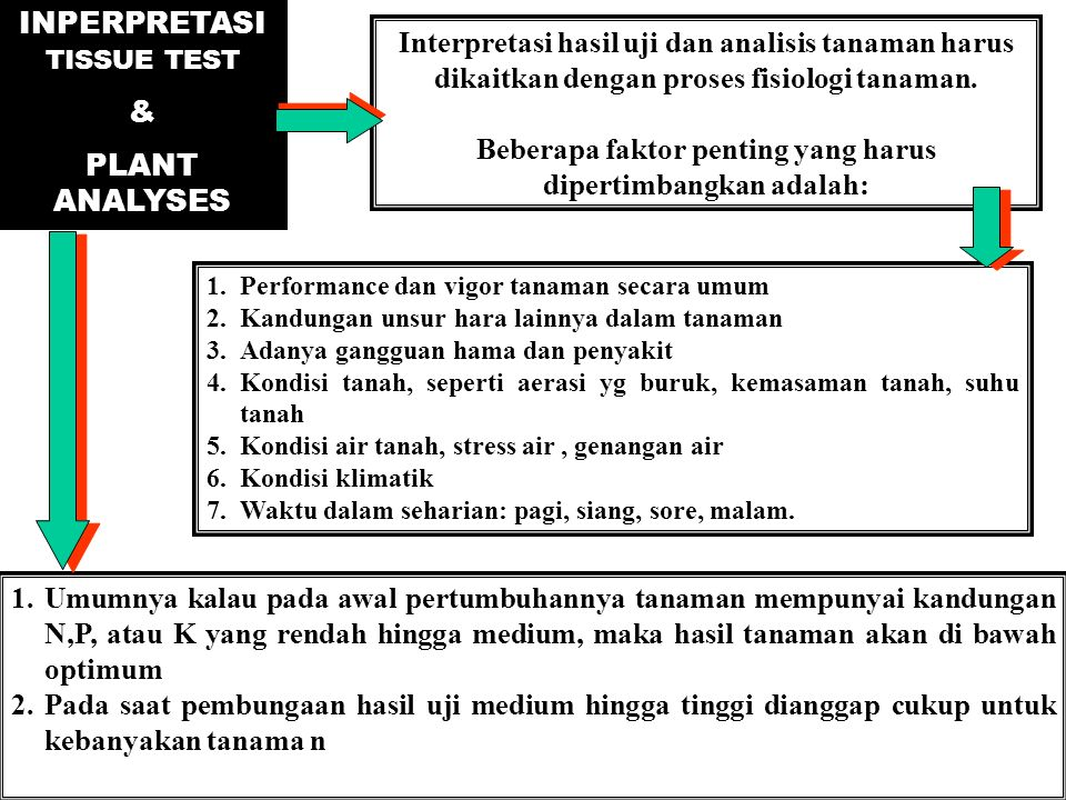INPERPRETASI TISSUE TEST & PLANT ANALYSES