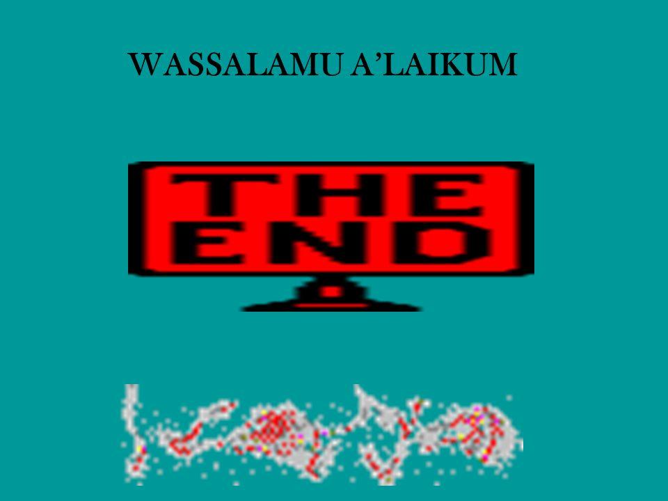 WASSALAMU A'LAIKUM