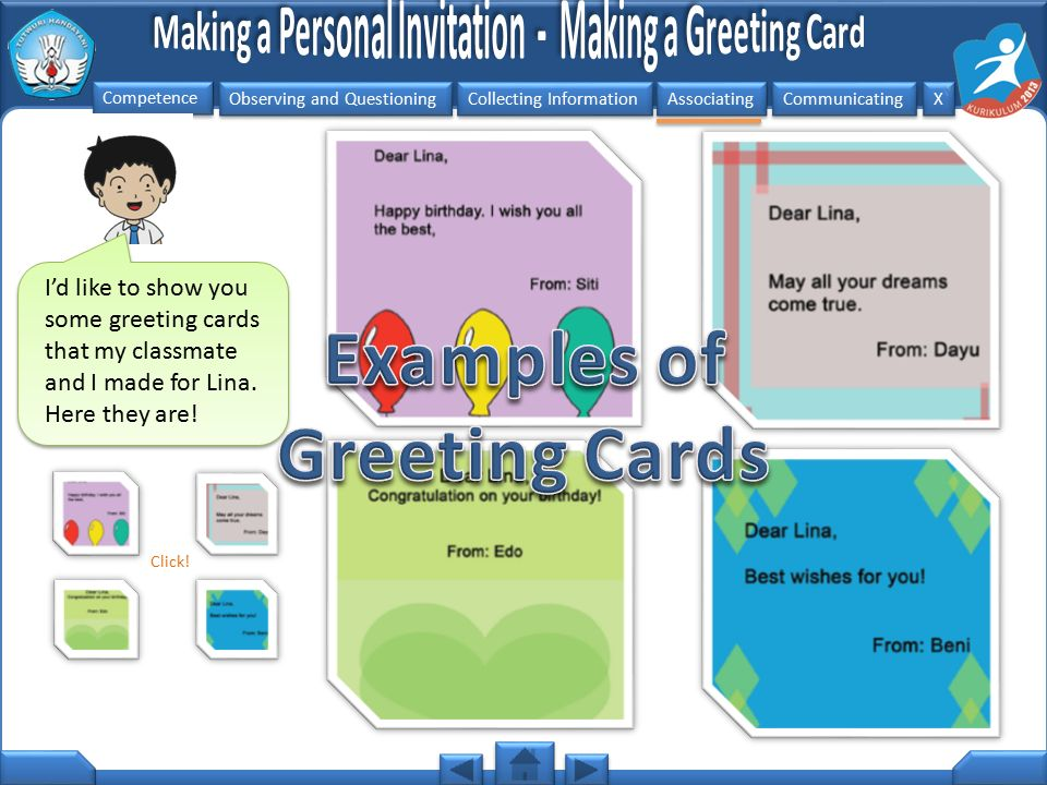 Examples of Greeting Cards