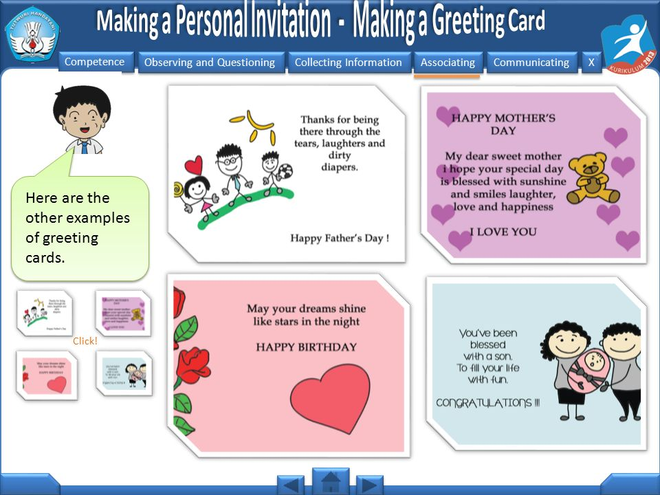 Here are the other examples of greeting cards.