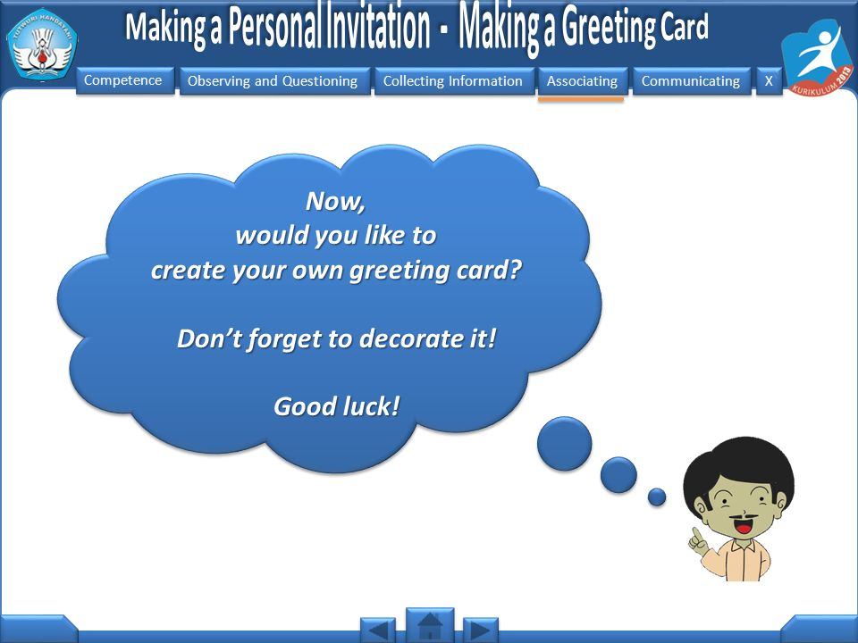 create your own greeting card Don't forget to decorate it!