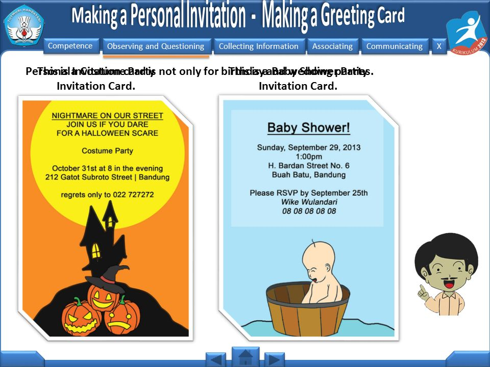 This is a Costume Party Invitation Card.