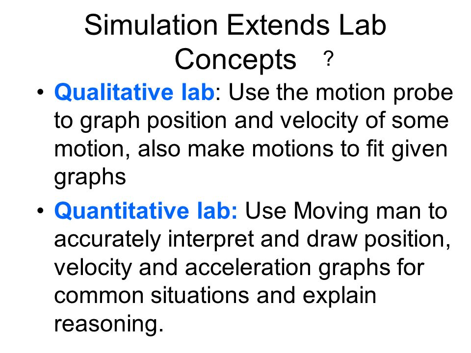 Simulation Extends Lab Concepts