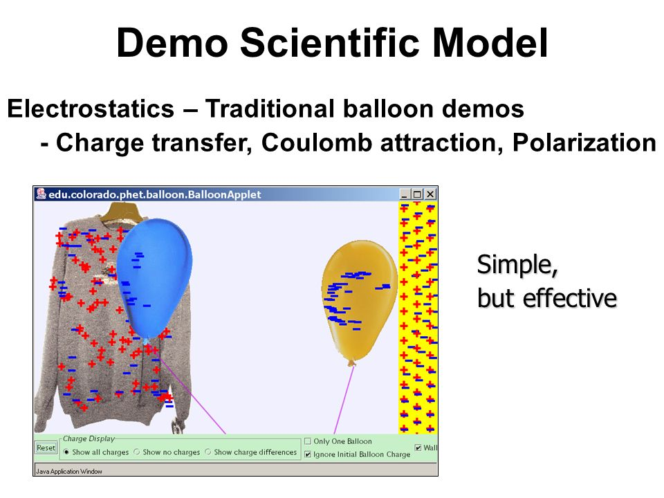 Demo Scientific Model Electrostatics – Traditional balloon demos