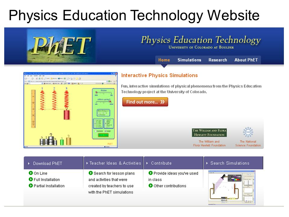 Physics Education Technology Website