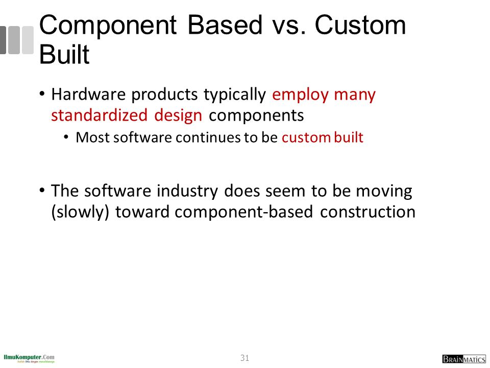 Component Based vs. Custom Built