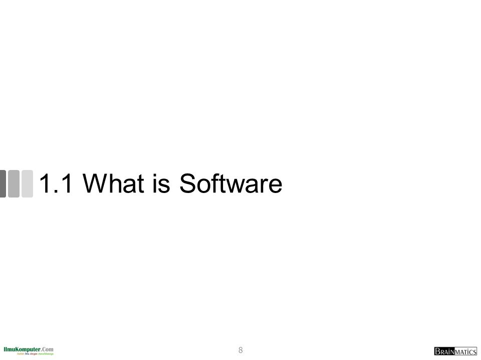1.1 What is Software