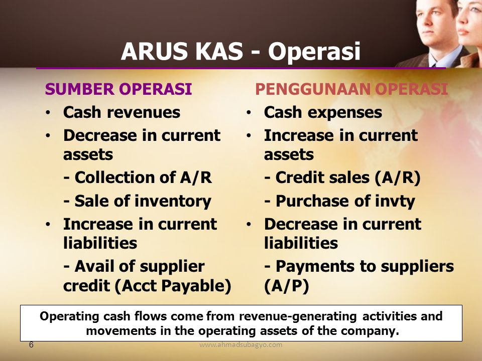 ARUS KAS - Operasi SUMBER OPERASI Cash revenues
