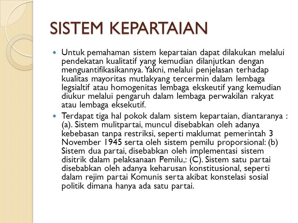 SISTEM KEPARTAIAN