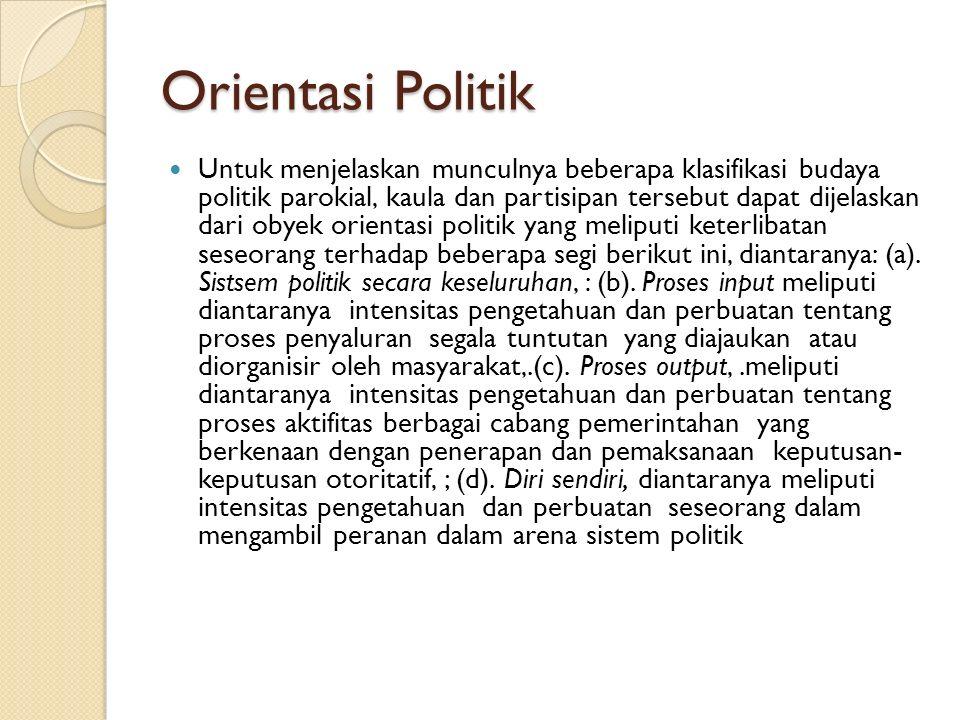 Orientasi Politik