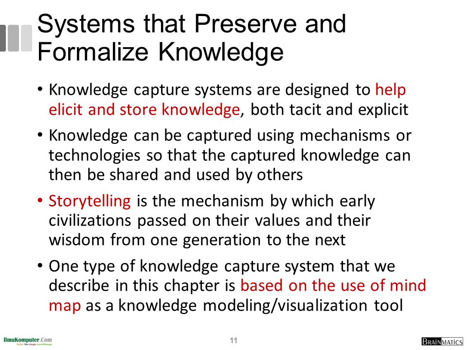 Systems that Preserve and Formalize Knowledge
