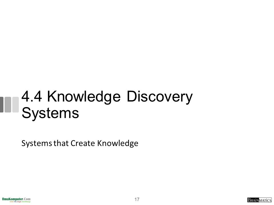 4.4 Knowledge Discovery Systems