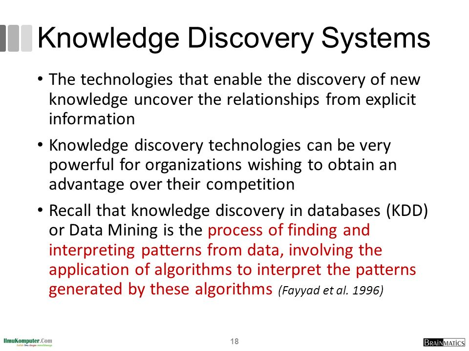 Knowledge Discovery Systems