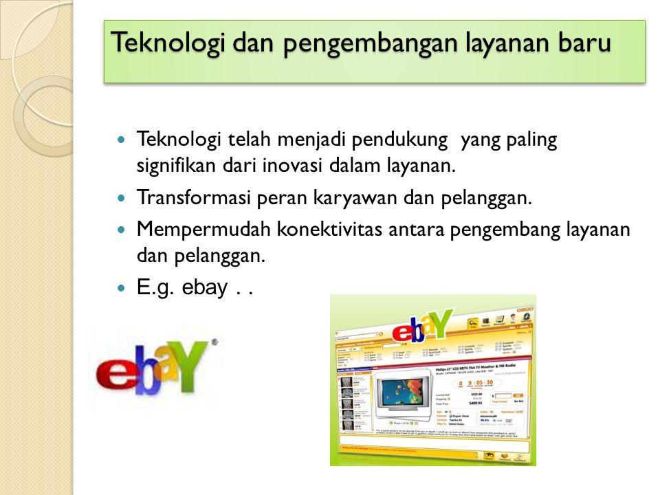 Teknologi dan pengembangan layanan baru