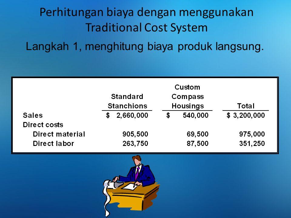 Perhitungan biaya dengan menggunakan Traditional Cost System