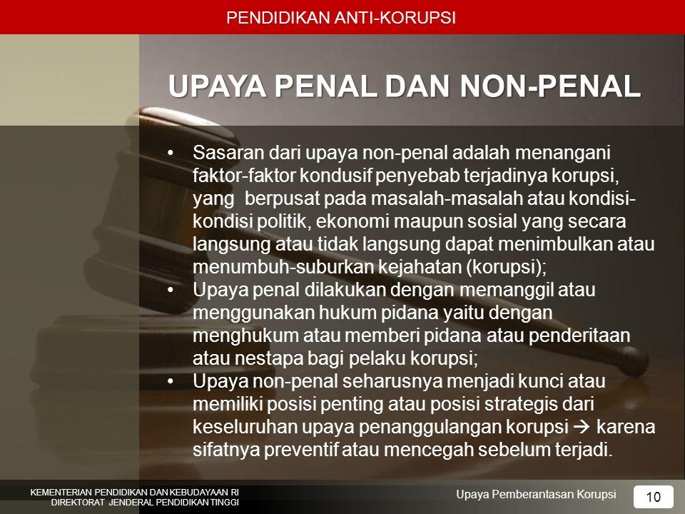 UPAYA PENAL DAN NON-PENAL
