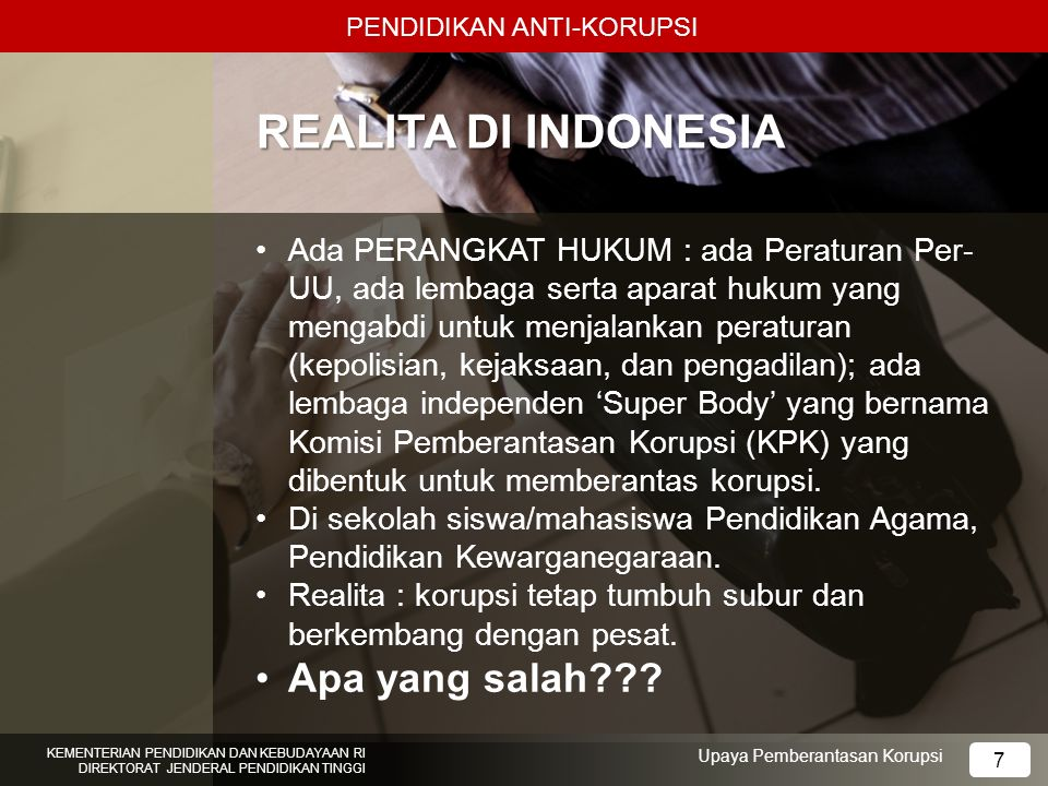 REALITA DI INDONESIA Apa yang salah