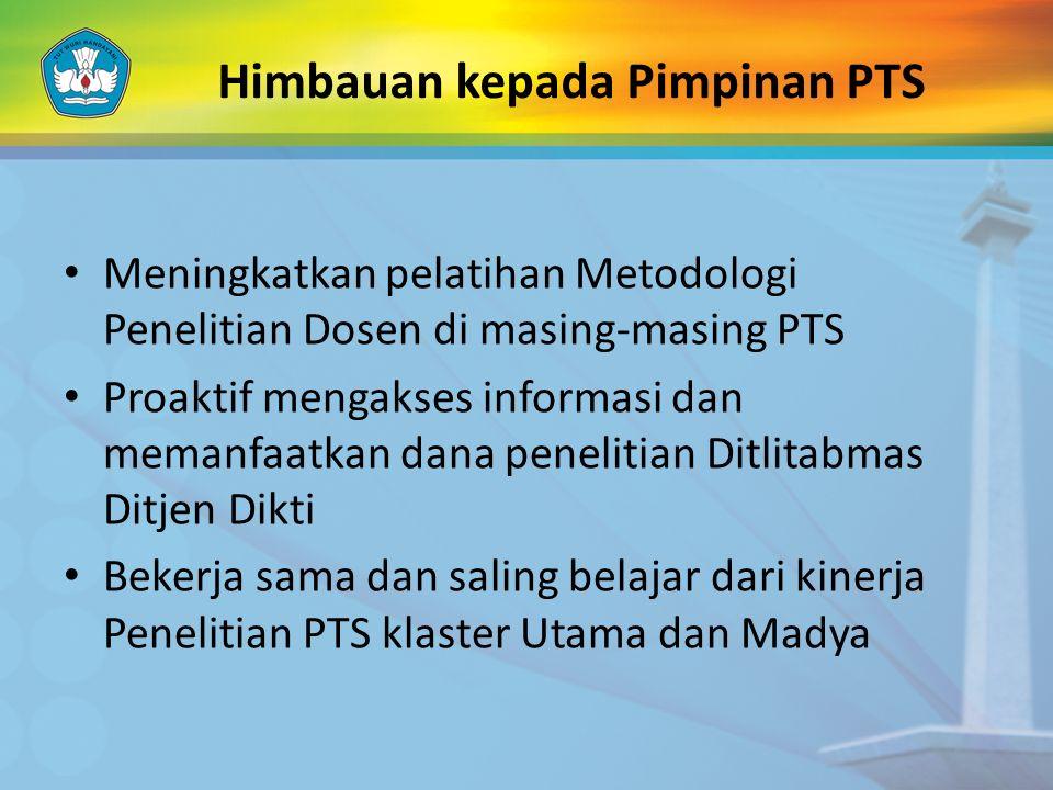 Himbauan kepada Pimpinan PTS