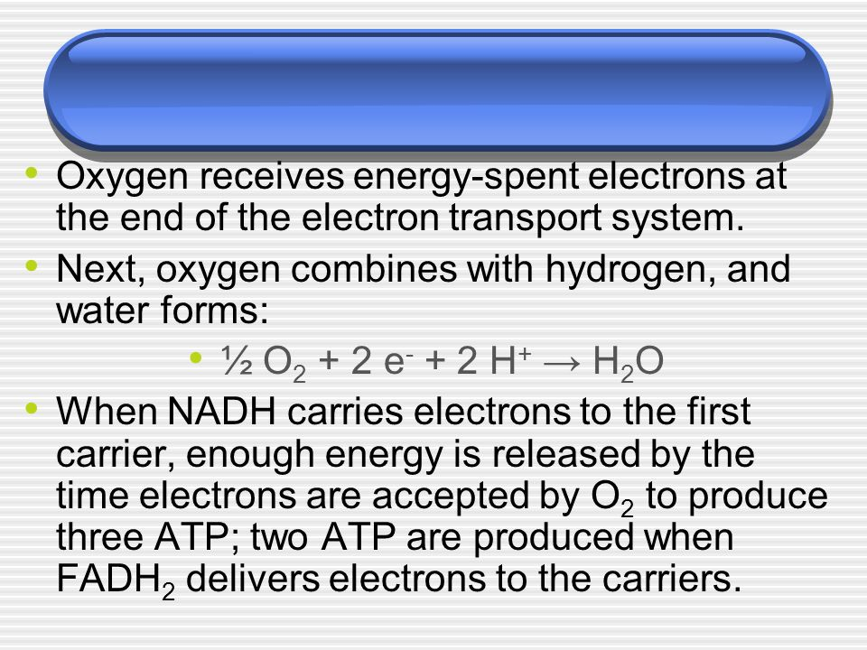 Next, oxygen combines with hydrogen, and water forms: