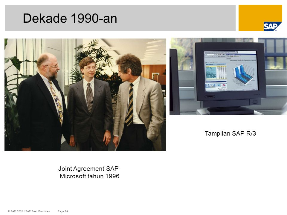 Joint Agreement SAP-Microsoft tahun 1996