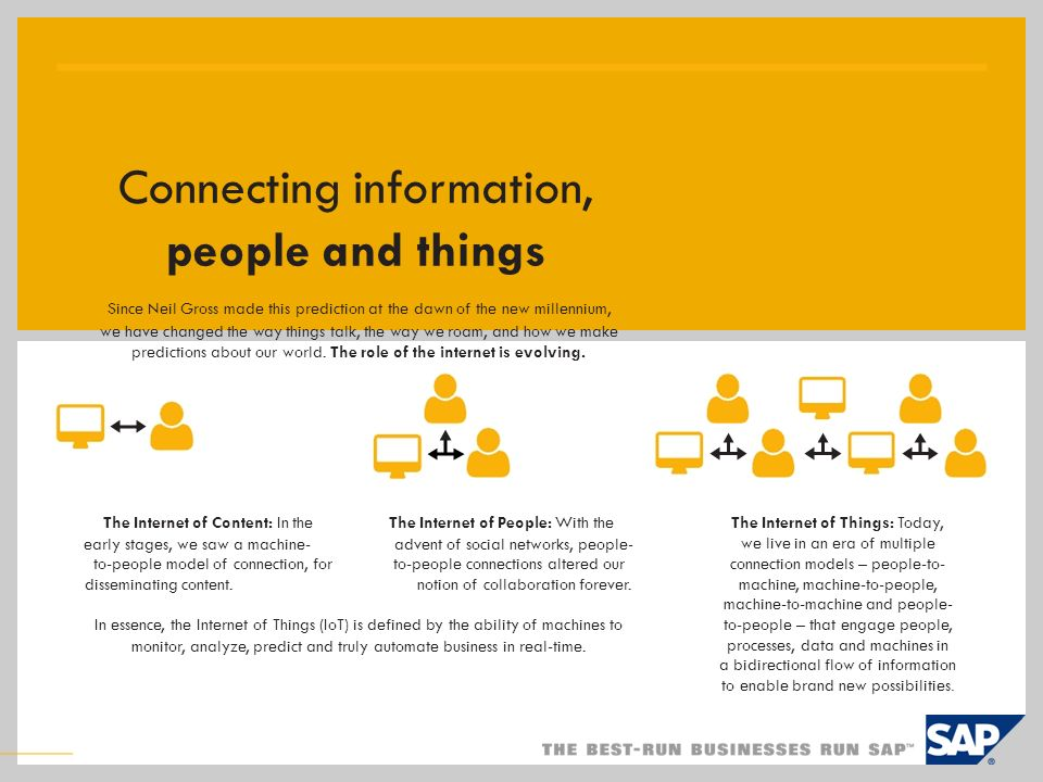 Connecting information, people and things