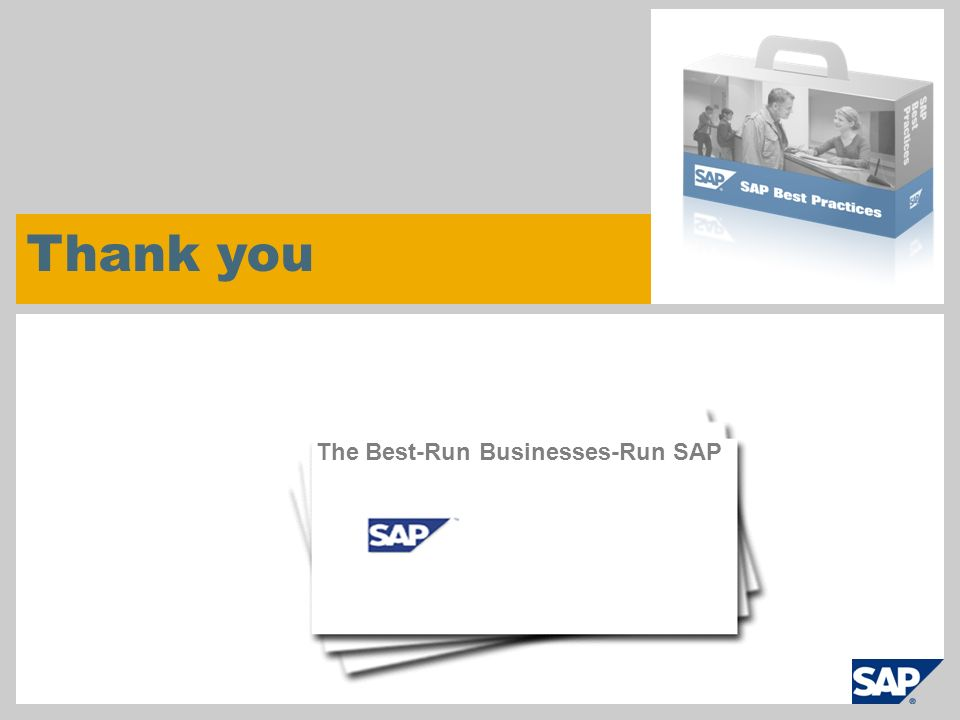 Thank you The Best-Run Businesses-Run SAP