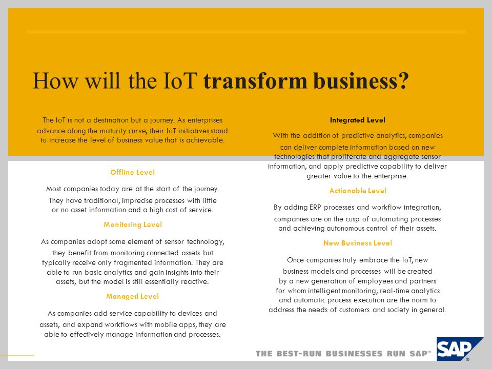How will the IoT transform business
