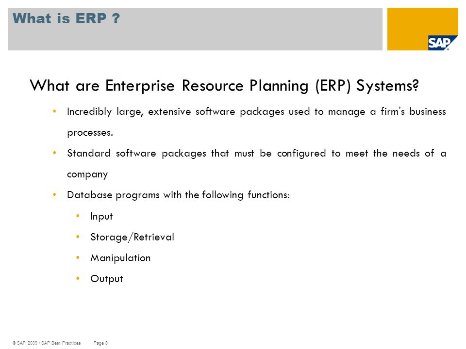 What are Enterprise Resource Planning (ERP) Systems