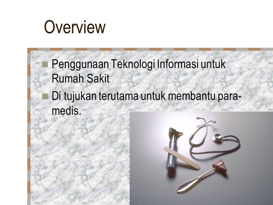 Overview Penggunaan Teknologi Informasi untuk Rumah Sakit