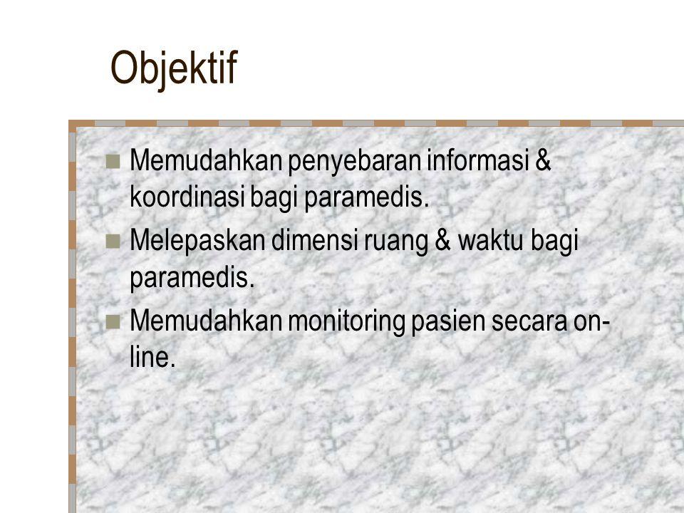 Objektif Memudahkan penyebaran informasi & koordinasi bagi paramedis.