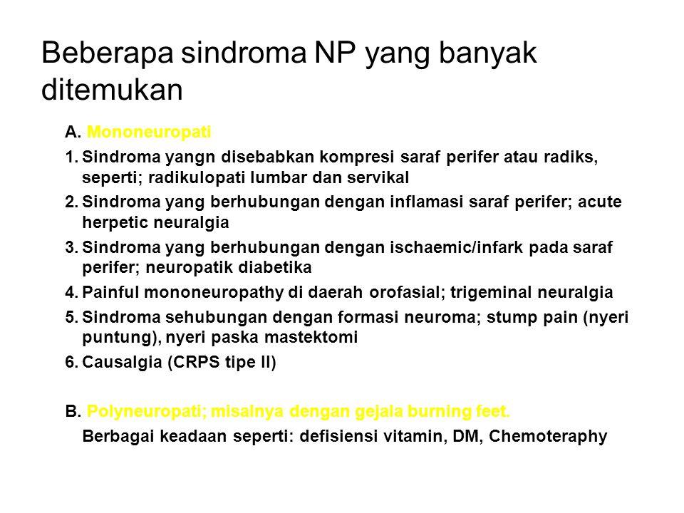 Beberapa sindroma NP yang banyak ditemukan