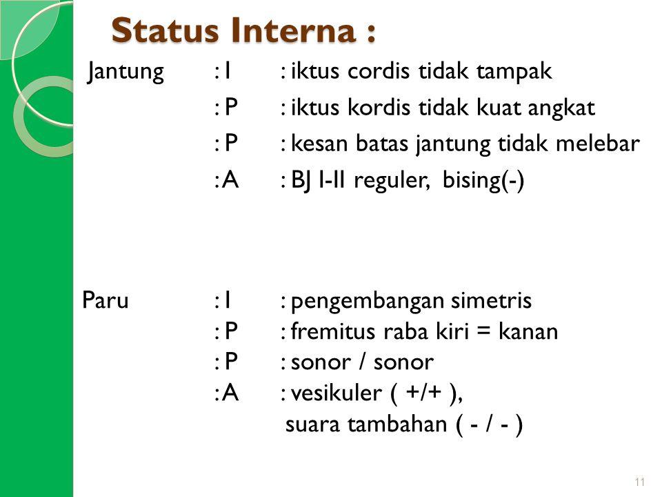 Status Interna :