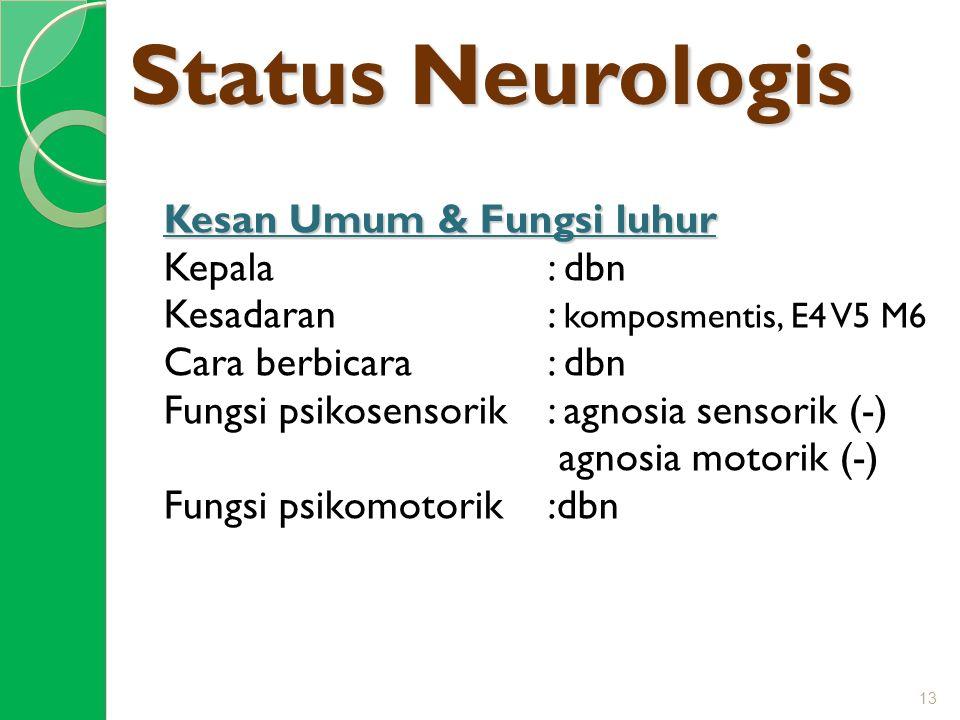 Status Neurologis