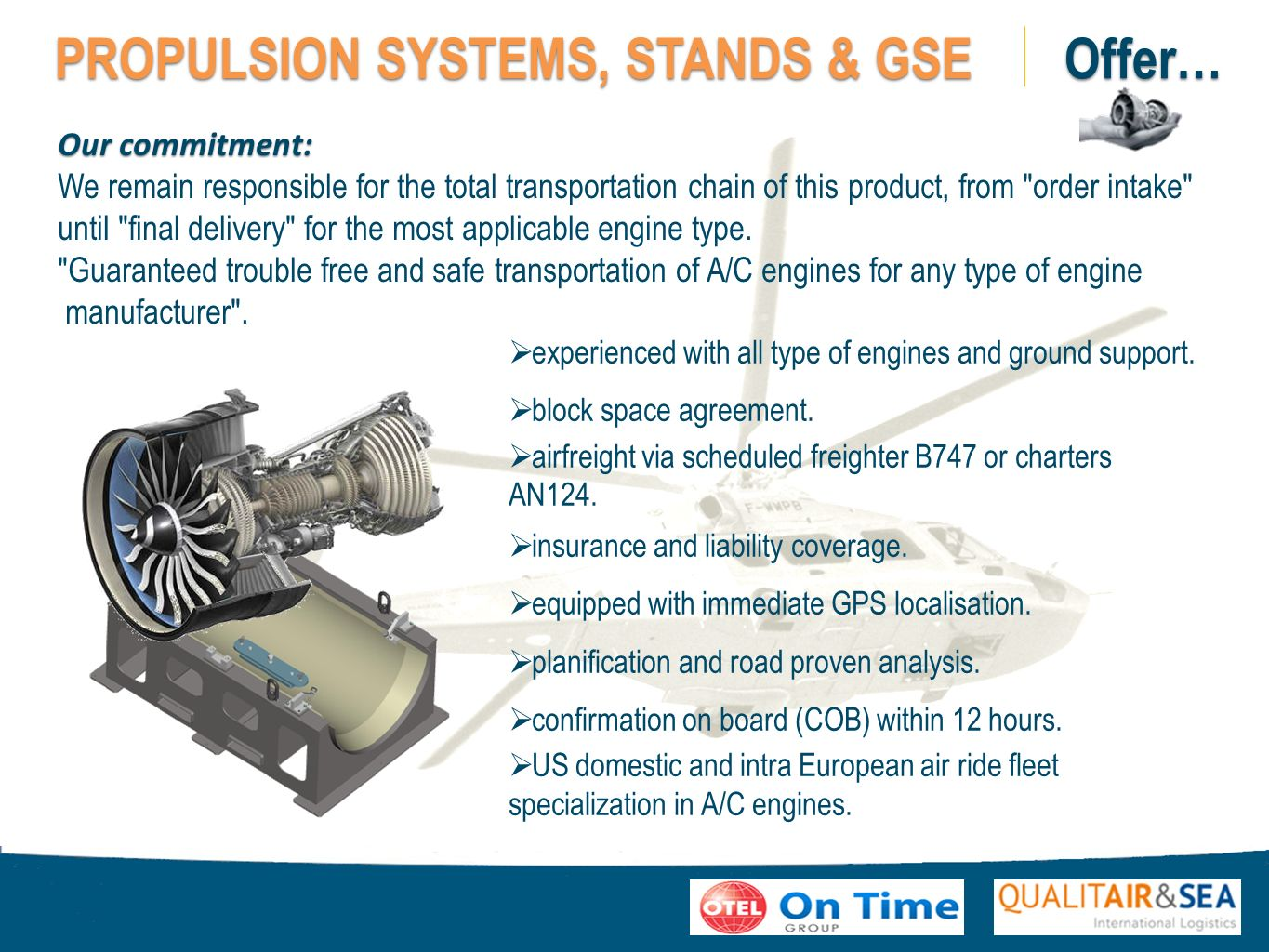 PROPULSION SYSTEMS, STANDS & GSE Offer…