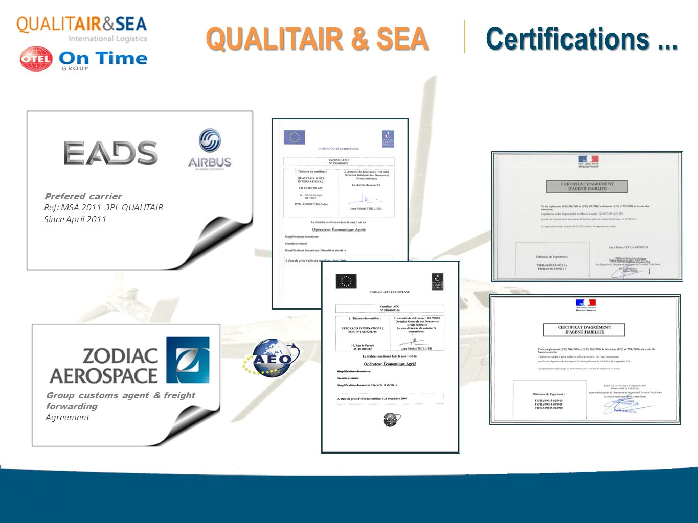 QUALITAIR & SEA Certifications ...