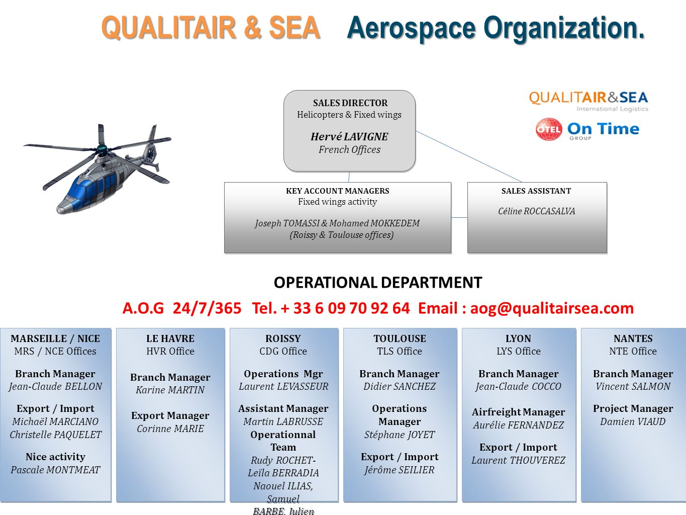 QUALITAIR & SEA Aerospace Organization. OPERATIONAL DEPARTMENT