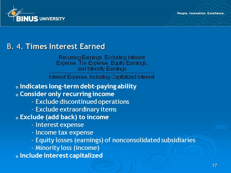 B. 4. Times Interest Earned