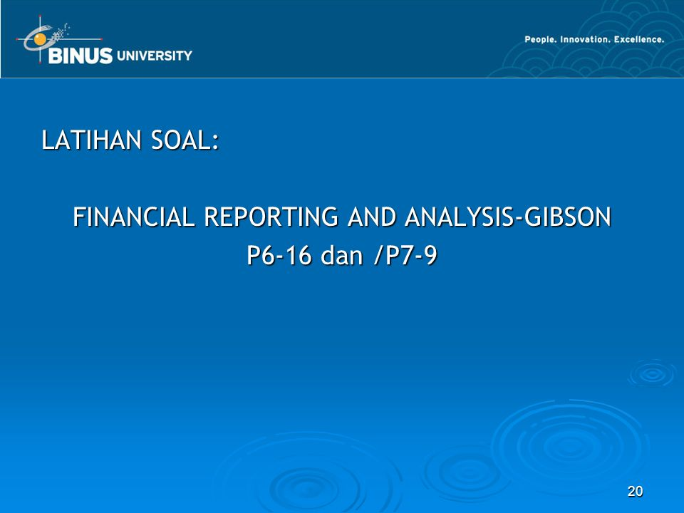 FINANCIAL REPORTING AND ANALYSIS-GIBSON