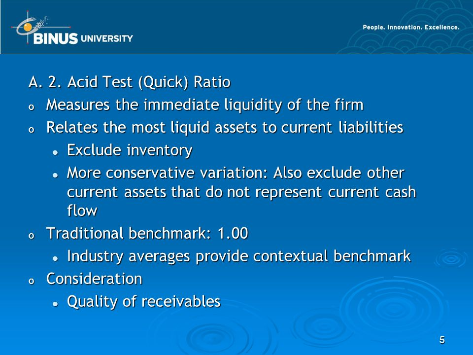 A. 2. Acid Test (Quick) Ratio