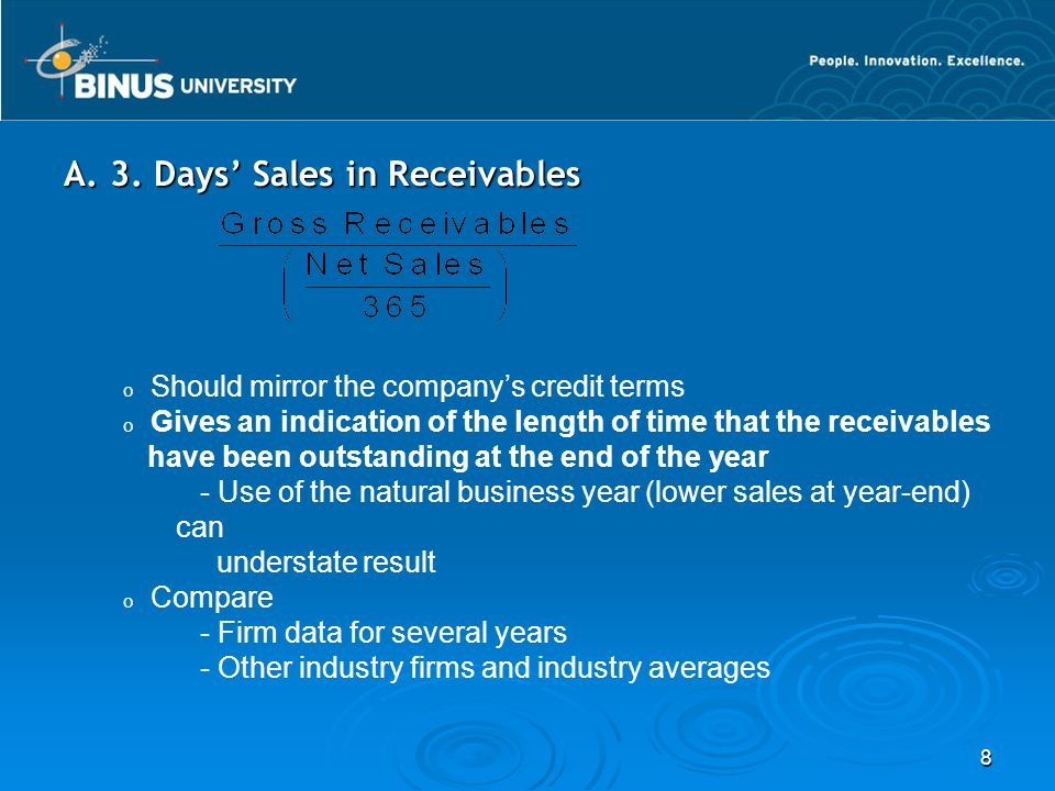 A. 3. Days' Sales in Receivables