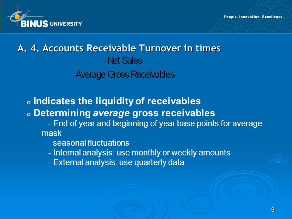 A. 4. Accounts Receivable Turnover in times
