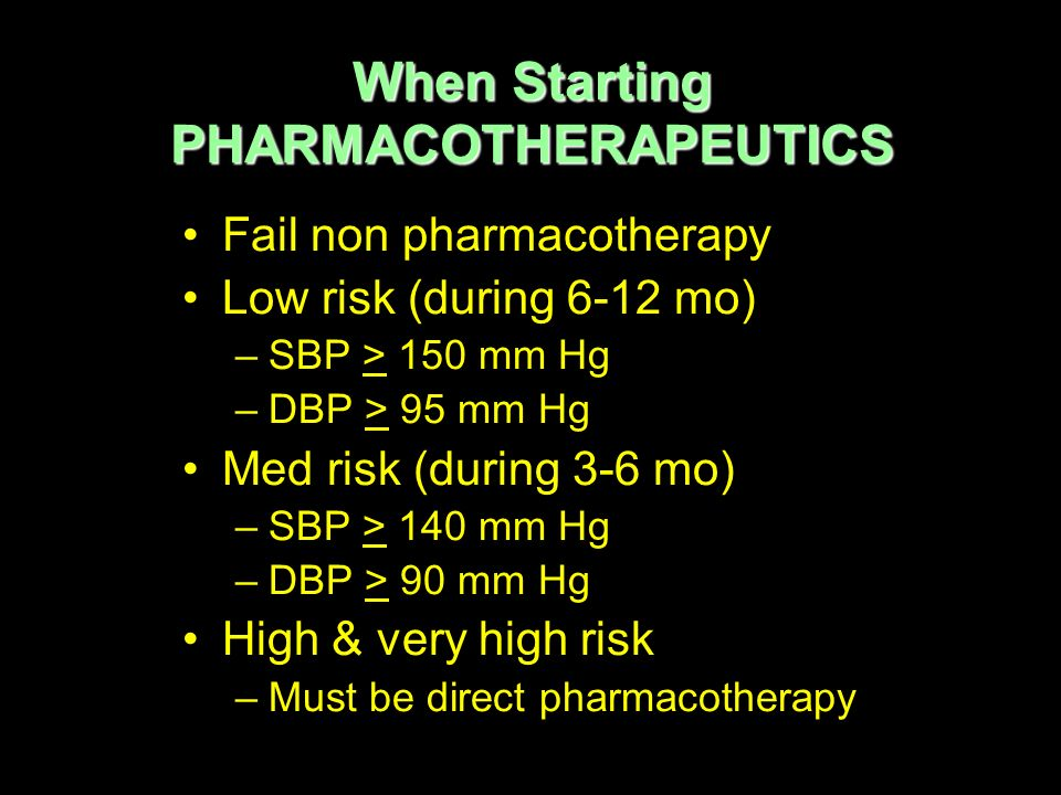 When Starting PHARMACOTHERAPEUTICS